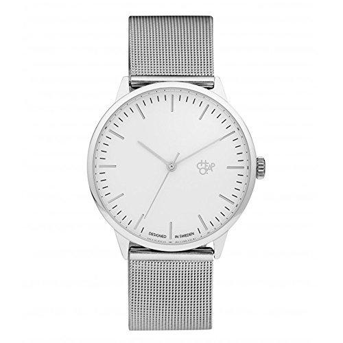 CHPO Unisex Erwachsene Analog Quarz Uhr mit Edelstahl Armband 14232BB