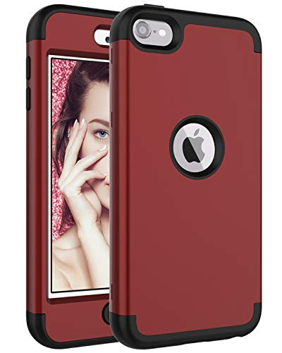 Touch5 Fall, iPod touch5th Fall, Touch5 Fall, Chevron K Star Anchor Muster savyou 3 in 1 Combo Hybrid stoßfest Case Cover für Apple iPod Touch 5 5. Generation, Rot