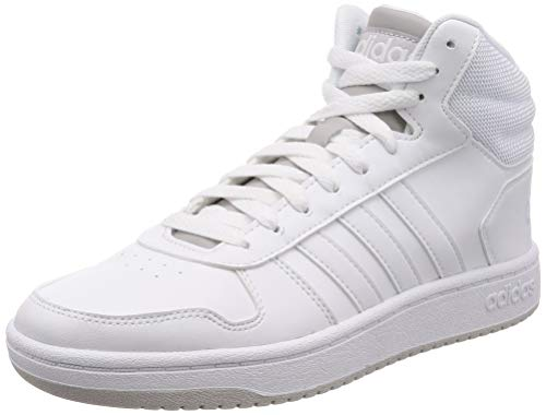 adidas Hoops 2.0 Mid, Herren Basketballschuhe, Weiß (Blanco 000), 44 2/3 EU