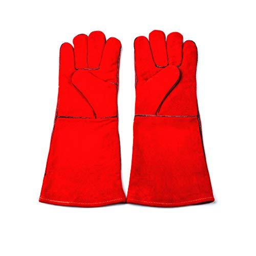 Lyq & st Pet Handschuhe, Anti-Bite Scratch Dog Cat Scratch Eichhörnchen Lederhandschuhe, Hochwertige Arbeitshandschuhe (Color : 3)