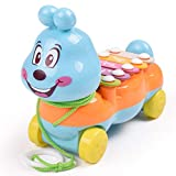 omufipw Cartoon Caterpillar fünf-Ton-Piano-Baby Early Learning Percussion musikalisches Spielzeug kompatibel mit Kindern