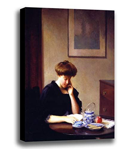Price comparison product image ODSAN Canvas Print Wall Art - The Letter - By William Worchester Churchill - Giclee Printed on Stretched Gallery Wrap - 12x15 inch