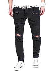 MT Styles Biker Jeans Slim Fit Pantalon RJ-2078