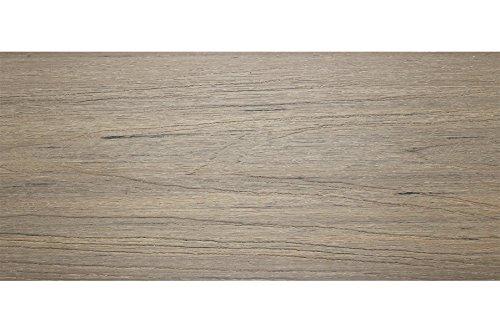 WPC Terrassendiele, Coextrudiert, Massivdiele, Grau, 23 x 210 mm, Länge 4 M