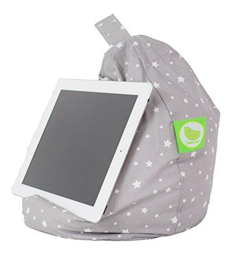 iPad, eReader & Book Mini Sitzsack von Bean Lazy passt für alle Tablets und eReaders–Grau...
