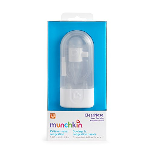 Munchkin CosieNosie Baby-Nasensauger mit Aufbewahrungsbehälter und 3 verschiedenen Aufsätzen - 6