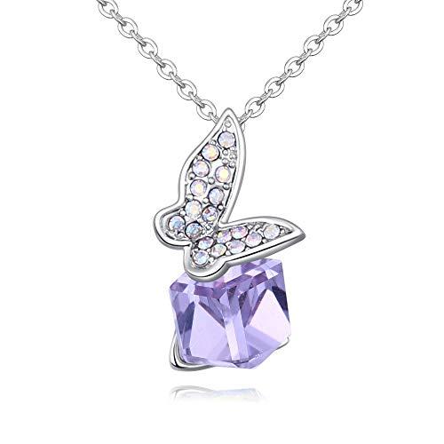 Zxmsjxl argento 925 zircone gioielli collana a forma di farfalla con ciondoli geometrici a forma di catenina, gioielli unici per le donne, 1