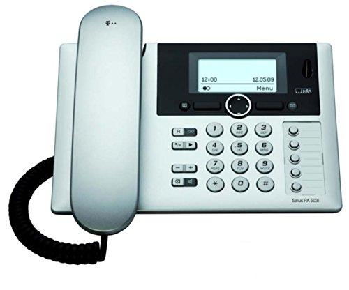 Telekom Sinus PA 503i plus 1 ISDN Telefon mit Anrufbeantworter und zusätzlichem Mobilteil silber mit schwarz (Tischtelefon Mit Schnurlosem Telefon)