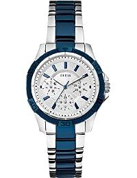 Guess Damen-Armbanduhr Analog Quarz Edelstahl W0235L6