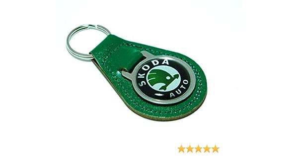 Skoda Leder Board Schlüsselanhänger Auto