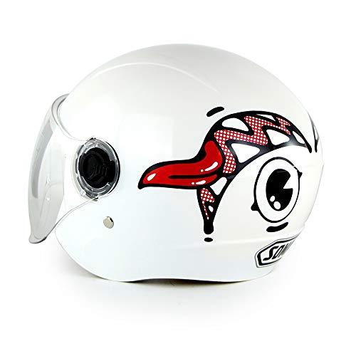 XYL Kinder/Jugendliche Urban Skate Helm Einstellbare Größe ABS-Schale Ideal Für Skateboard Bike BMX und Stunt Scooter Weiß Alter Guide 6-12 Jahre Jungen/Mädchen -