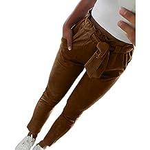 3b54a4488c VENMO Frauen hohe Taille Pluderhosen Bowtie elastische Taille beiläufige  Hosen wunderschöne Leichte Haremshose Pumphose Pluderhose Harem