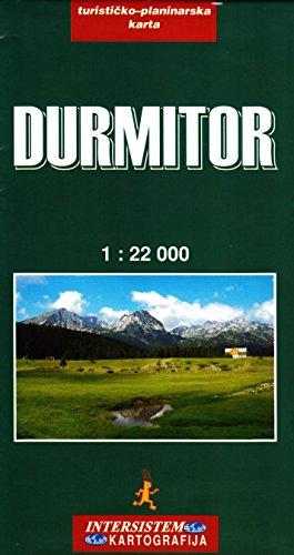 Durmitor NP (Monténégro) 1: 22.000 carte de randonnée Intersistem