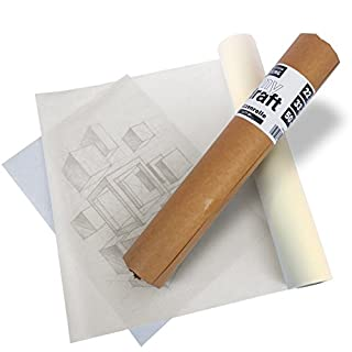 ZCE Sketch Tracing Roll 20 or 40g/m² Acid-Free 50m or 100m Long - 33 cm or 61 cm Wide - Acid Free, myDraft Sketching Paper Roll 22g/qm, 50m lang - 33cm breit