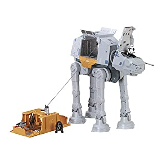 Hasbro B7076 - Nerf Star Wars Remote Control Toy - Rapid Fire Imperial AT-ACT Playset with 3 Action Figures