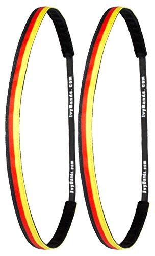 Ivybands  | Das Anti-Rutsch Haarband | 2-er Pack | EM Band ' We Are Germany ' Deutschland Ivybands | 1,2cm breites Germany Haarband Super Thin One Size 2x IVY415
