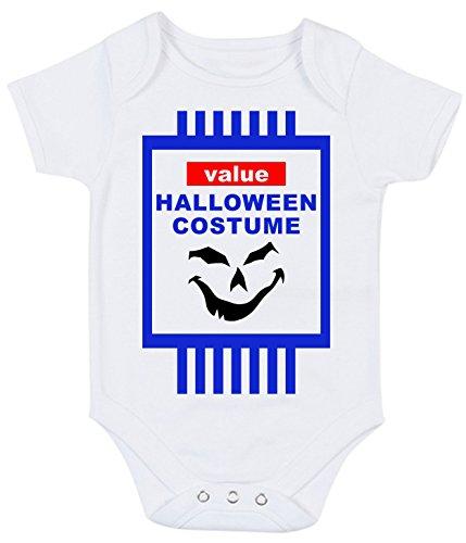 Bullshirt Wert des Halloween-Kostüm Strampler weiß weiß 0-3 Monate (Mutter Neugeborenen Halloween Kostüme)