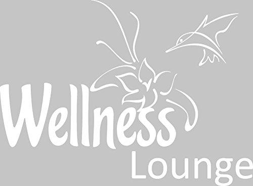 GRAZDesign 650064 Wandtattoo Wellness Lounge | Badezimmer-Wände mit Aufkleber gestalten | WC/Toilette
