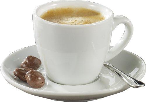 Esmeyer Bistro Espressotasse mit Untertasse, Porzellan, Weiß, 3...