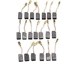 KUNSE Escobillas De Carbono del Motor 20Pcs 13.6 X 7.8 X 6.1 mm para La Amoladora
