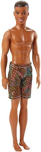 Barbie Plage poupée Ken brun avec short de bain motifs géométriques, jouet pour enfant, DWK07