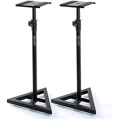 Adam Hall SKDB 039 V2-B - Soportes de pie para altavoces (2 unidades, ajustable, acero)