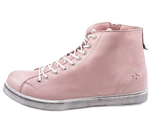 Andrea Conti Damen 0341500 Hohe Sneaker Beige (Mauve 175) 42 EU