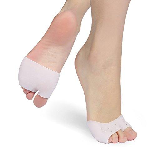 Tennis-ballett-schuhe (2Paar Mittelfuß Gel-Einlegesohlen Ball der Foot Pads, Zehen Kissen entzündeten Fußballen Ärmeln–Morton-neurom Schmerzlinderung fügt für Ballett-Schuhe, verhindern Schwielen, Blasen, Plantarfasziitis)