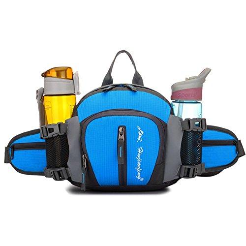 Travel Waist Rucksäcke, ZOQI 20L Herren Womens Wasserdicht Anti- Scratch Multifunktions 4-in-1 Outdoor / Runing / Bergsteigen / Reisen / Radfahren Trinkflaschen Taschen Blau