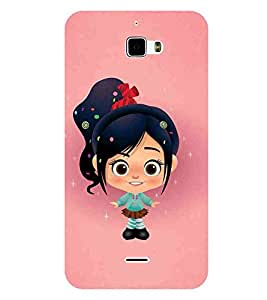 For Coolpad F1 8297 :: Coolpad F1 8297W cute girl, beautiful girl, girl, pink background Designer Printed High Quality Smooth Matte Protective Mobile Case Back Pouch Cover by APEX