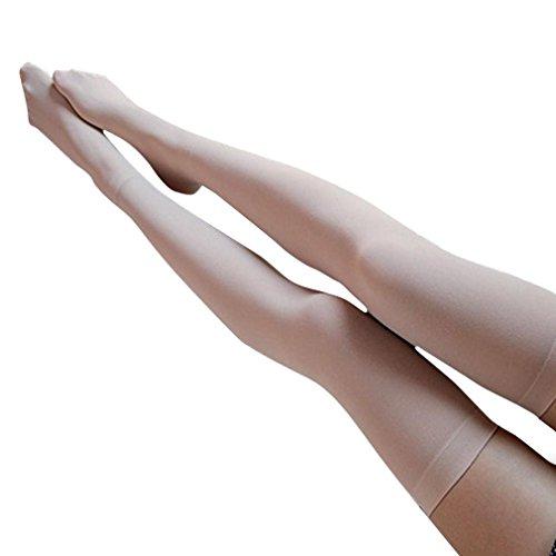 Strümpfe Damen Frauen über Knie-Lange Socken,KIMODO Damen Mädchen Mode deckend über Knie Oberschenkel hohe elastische Socken, Damen Fashion Over Knee High Temptation Stretch Nylon Socks New (Beige) (Mädchen Knie Socken Hoch)