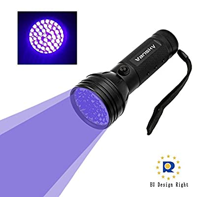 Vansky® UV Torch Blacklight 51 LEDs UV Flashlight Pets Urine Light Detector, Dogs/Cats Dry Stains UltraViolet Detector on Carpets, Rugs, Floor. 3 x AA Batteries Included