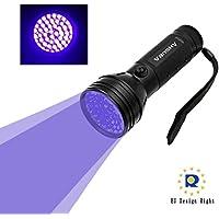 Vansky® Torcia UV LED Lampada 51 Leds Blacklight Animali Urina Cane/Gatto Smacchiatore Rivelatore Lampada Ultravioletti, 3 Batterie AAA incluse