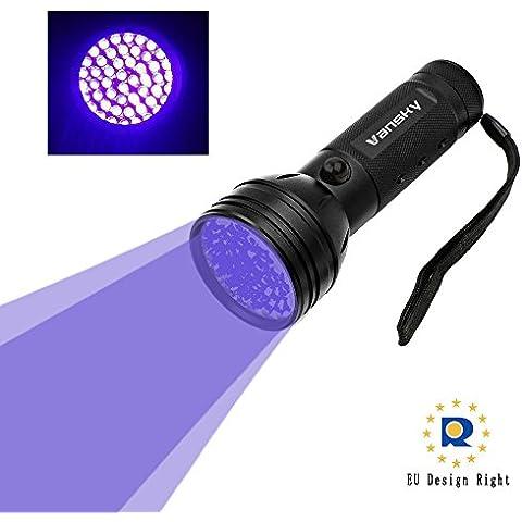 Vansky® UV Lampara 51 LED linterna de luz negra para mascotas UV Detector de manchas de orina de perro / gato eliminador de manchas, manchas secas Encuentra en alfombras, moquetas, Piso. 3 pilas AA