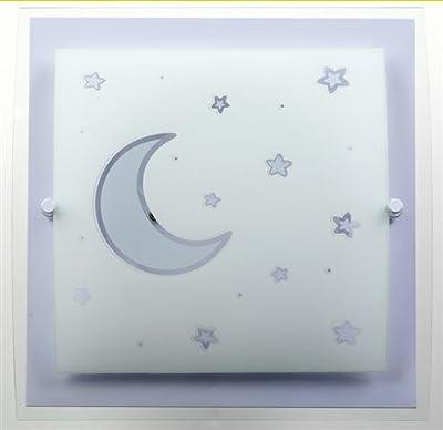 Moon Light Deckenlampe-Wandlampe Dalber 45236l Mond Licht lila Lampe Kinder Zimmer von GeHoBi - Lampenhans.de