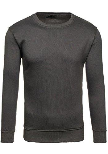 BOLF Herrenpullover Basic Sweatshirt BOLF BO01 Dunkelgrau M [1A1] |