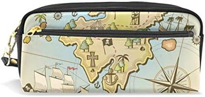 Bonipe antique carte du monde nautique Boussole Trousse Pen Box Box Box Pochette Sac d'école papeterie Fournitures de voyage Cosmétique Sac de maquillage B07H5G2ZMT | Dans Un Style élégant  4155c8