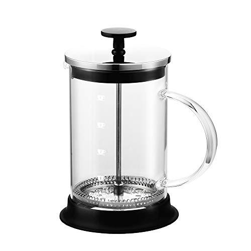 DEI QI Manuelle Kaffee Espresso Topf Topf Edelstahl Glas Teekanne Französisch Kaffee Tee Filter Filterpresse Kolben Kaffeemaschine (Size : 350ml)