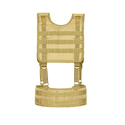 Seibertron Funktionsweste taktisch miliary weiche Stil Airsoft Light Weight Assault Harness Molle Chest Rig Khaki (Taktische Harness Chest)