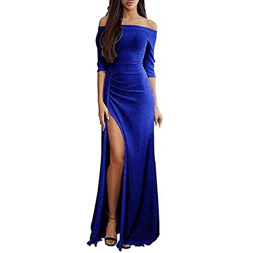 Preisvergleich Produktbild Zottom One-Shoulder-Tasche hip offenes Abendkleid Abendessen Frauen Schulterfrei Kleider High Split Maxi Lange Abendkleider