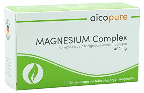 MAGNESIUM Complex 400 mg • optimierte Bioverfügbarkeit • vegan • Kapseln • Komplex aus 7 Magnesiumverbindungen • Magnesiumcitrat • Magnesiummalat • Made in Germany (60 Kapseln)