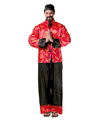 Kostüme Chinesische Gewand (Chinesischer Mandarin Herrenkostüm für Fasching)