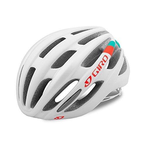 Giro Saga MIPS Damen Rennrad Fahrrad Helm weiß/türkis/orange 2017: Größe: M (55-59cm)