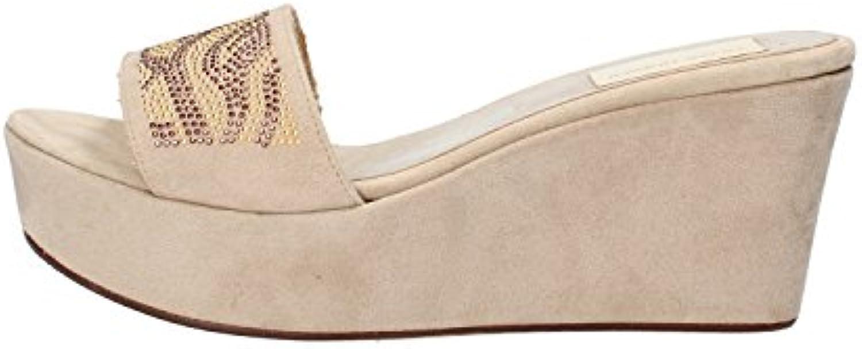 olga rubini femmes strass sandales sandales sandales en daim (7 royaume uni / 40 ue, beige) b01mr6lwlz parent | Mode Attrayant  f756c5