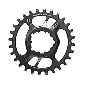 SRAM Unisex's X-Sync 2 Steel Direct Mount 6mm Offset Eagle Chainring, Black, 32t