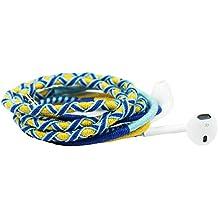 Crossloop Designer Series 3.5mm Universal In-Ear Headphones With Mic And Volume Control (Yellow, Dark Blue & Sky Blue)