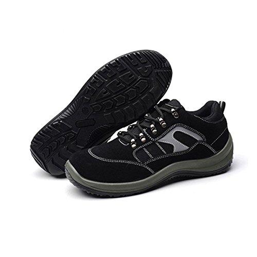 CHNHIRA Hommes Femmes Baskets de Sécurité Chaussure Randonnée Unisexes Semelle de Protection Gris