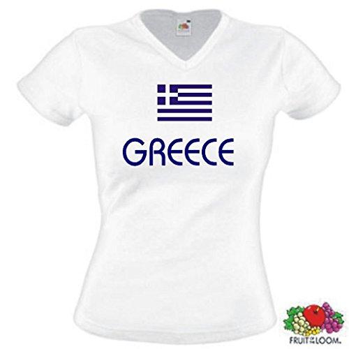 Fruit of the Loom Greece/Griechenland Damen T-Shirt WM 2014 Trikot|w-l