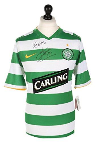 John-Hartson-Signed-Celtic-0810-Home-Shirt-Autograph-Jersey-Memorabilia-COA