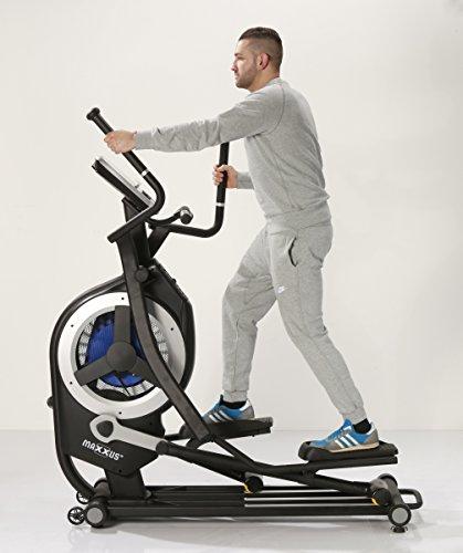MAXXUS® Ellipsentrainer 10.1 Pro – Magnet- und Luftantrieb. Crosstrainer mit elliptischem Bewegungsablauf. Gelenkschonende, flache und elliptische Bewegung. 150kg Benutzergewicht - 4